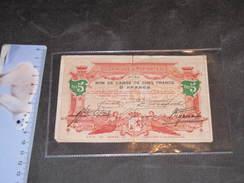 COMMUNE DE PEPINSTER - 1914 - BON DE CAISSE DE 5 FRANCS - - 1914-18