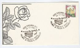 1987 ROSE Tarquinia VINCENZO CARDARELLI Birth CENTENARY EVENT COVER Flower  Flowers Roses Poet Literature Italy Stamps - Roses
