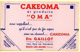 Buvard Cakeoma. Pas De Fin De Repas Sans Un Dessert Cakeoma. Ets. Gaillot à Malo Les Bains. - Sucreries & Gâteaux