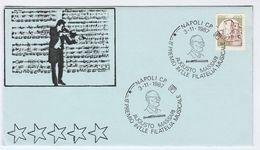 1987 Napoli AUGUSTO MASSARI Music EVENT COVER Stamps Italy Violin - Music