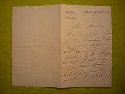 Autographe De Cécile Carnot épouse Du Président Sadi Carnot Dcd En1898 Sur Lettre De La Présidence De La République 1892 - Handtekening