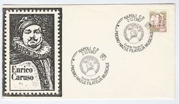 1987 Napoli  ENRICO CARUSO, FEDELE FENERAOLI   Music EVENT COVER Stamps Italy Opera Theatre - Music