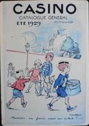 Plaque En Tole PUB Pour CASINO Catalogue Général 1929 - POULBOT - Format : 145 X 205mm - Adagp 1998 - TBE - Tin Signs (after1960)
