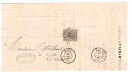 TP 17 S/LAC Facture E.Vande Male Lin&Etoupes LOS 141 C.Gand 26/12/1868 V.Eecloo C.d'arrivée PR4766 - Postmarks - Points