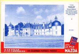Buvard Mazda. Avec La Pile Mazda, Un éclairage Portatif Parfait. Château De Tanlay - Yonne. - Accumulators