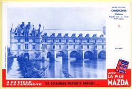 Buvard Mazda. Avec La Pile Mazda, Un éclairage Portatif Parfait. Château De Chenonceaux - Indre Et Loire. - Accumulators