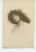 ENFANTS - LITTLE GIRL - MAEDCHEN - Jolie Carte Fantaisie Portrait Fillette Avec Chapeau - Portraits
