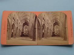St. POL De Léon - La Cathédrale (La Nef) (La Bretagne) Stereo Photo ( Voir Photo Pour Detail ) ! - Photos Stéréoscopiques