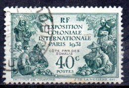 Col 5 / Cote Des Somalis  N° 137 Oblitéré Cote : 8,25 € - Oblitérés