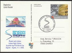 Croatia Zagreb 2006 / FIS World Cup In Slalom Snow Queen Trophy Alpine Skiing, Ladies Night Slalom / Janica Kostelic - Ski
