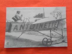 CARTE D'AUTREFOIS - REPRODUCTION, M.H Lathan Sur Monoplan Antoinette, à Son Poste De Vol - Flugzeuge