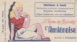 BUVARD  - Blotter -  La Reine Des Biscottes - L'AMIENOISE - Buvards, Protège-cahiers Illustrés