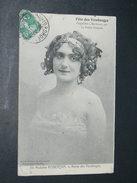 """BORDEAUX   1910   FETE DES VENDANGES  ORGANISE PAR """" LA PETITE GIRONDE """"  /  LA REINE DES VENDANGES  /  EDIT - Bordeaux"""