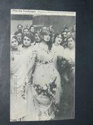 """BORDEAUX  1910 FETE DES VENDANGES ORGANISE PAR """" LA PETITE GIRONDE """"  /  LES ACTRICES DE BACCHUS MELLE CHENAL  /  EDIT - Bordeaux"""