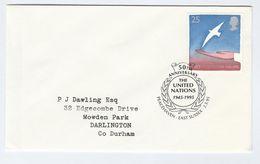 1995 PEACEHAVEN Gb  FDC  UNITED NATIONS 50th Anniv Un Stamps Cover Peace - UNO