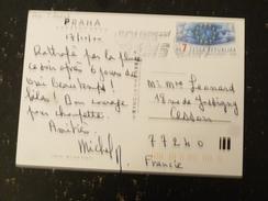 LETTRE TCHEQUIE CESKA REPUBLIKA REPUBLIQUE TCHEQUE AVEC YT 208 CONSEIL DE L EUROPE - PRAGUE PRAHA - Tchéquie