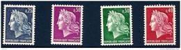 """FR YT 1535 à 1536B """" Marianne De Cheffer """" 1967-69 Neuf** - Ungebraucht"""