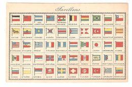 Pavillons - Drapeaux / Vlaggen / Flags - 50 Landen - Geschiedenis