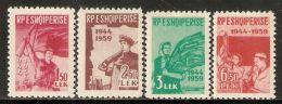 Albania 1959 Mi# 582-585 A ** MNH - 15th Anniversary Of Albania's Liberation - Albania