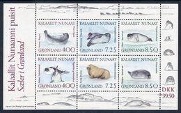 GREENLAND 1991 Seals Block MNH / **.  Michel Block 3 - Blocks & Sheetlets