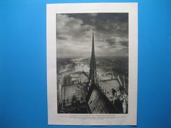 (1927) Paris - La Pointe Est De La Cité Vue De La TOUR NORD DE LA CATHÉDRALE DE NOTRE DAME - Vecchi Documenti