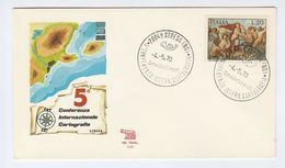 1970 Stressa CARTOGRAPHY CONFERENCE EVENT COVER Italy Stamps Map - Geography