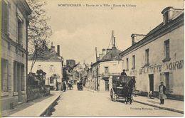 MONTRICHARD Entrée De La Ville Route De CHISSAY (voiture Attelée Devant L'hôtel De La Tête Noire) - Montrichard