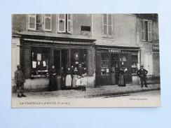 C.P.A. 77 LA CHAPELLE LA REINE : Commerce  CREUZET Et Plomberie CREUSY, Animé, En 1918 - La Chapelle La Reine