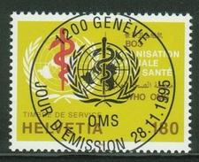 Suisse // Schweiz // Switzerland //  1990-1999 // Timbre De Service OMS 1995 1er Jour Oblitération Pleine - Service