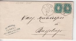 1889 - Piego Rispedito Con Diversa Affrancatura ( Primi Giorni D'uso Del 5 Cent. Scudo Di Savoia) - 1878-00 Umberto I