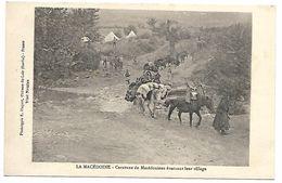 MACEDOINE - Caravane De Macédoniens évacuant Leur Village - Macédoine