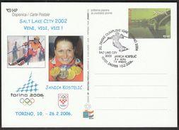 Croatia Zagreb 2006 / Olympic Games Torino / Alpine Skiing  Janica Kostelic In Salt Lake City 2002, 3 X Gold, 1 X Silver - Winter 2006: Turin