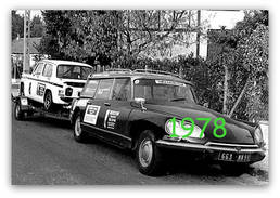 RARE PHOTO............   CITROEN DS BREAK + SIMCA 1000 RALLYE, 1978 - Automobiles