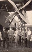CPA Avion Et Aviateurs à Identifier Carte  Photo De VEULET à GENEVE SUISSE Superbe état RARE - 1919-1938: Entre Guerres