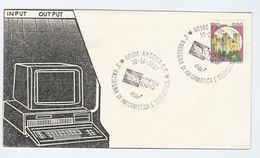 1987 Acona SOFTEL EXPO COMPUTERS & TELEMATICS EVENT COVER Italy Stamps Computer Computing Telecom - Computers