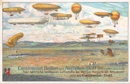Aviation -  Continental Ballon – Reklamekarte - Balloons