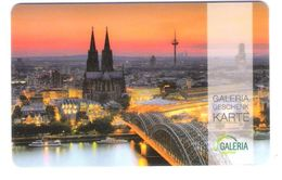 Germany - Carte Cadeau - Gift Card - Geschenkkarte - Galeria Kaufhof - Koeln - Fernsehturm - Funkturm - Gift Cards