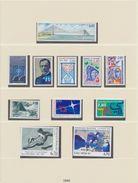 FRANCE LINDNER ANNEE 1995 Sans/ohne/without Timbres 8 Feuilles TTB - Vordruckblätter