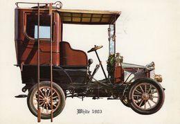 White Steamer 10hp Limousine Automobile  -  1903  -  CPM - Toerisme