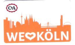 Germany - Carte Cadeau - Gift Card - Geschenkkarte - C&A - Köln - Fernsehturm - Funkturm - Gift Cards
