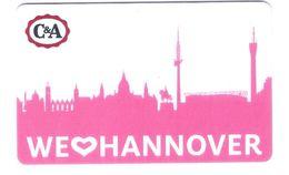 Germany - Carte Cadeau - Gift Card - Geschenkkarte - C&A - Hannover - Fernsehturm - Funkturm - Gift Cards
