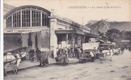 Cpa-50-cherbourg--animée-gare (coté Arrivée)-edi E.L.D.  /jan - Cherbourg