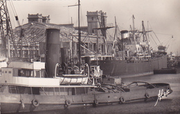 Cpa-50-cherbourg-remorqueur Et Cargo Boat Devant La Gare Maritime-edi Becquemin N°30 F - Cherbourg