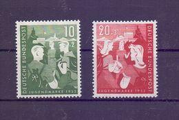 Bund 1953 - Jugendplan - Mi.Nr. 153/154 Postfrisch** - Michel 45,00 € (182) - Used Stamps