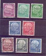 Bund Besonderheit - Heuss Lumogen - Komplett Gestempelt - Michel 450,00 € (897) - Used Stamps