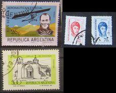 Argentina 1970 - 78 Aeronautica Y Espacial Jorge Newbery -  General Jose De San Martin X2 - Capilla De Candonga, Córdoba - Argentina