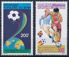 Soccer Football Benin 1981 #257/8 1982 World Cup Spain MNH  ** - 1982 – Espagne