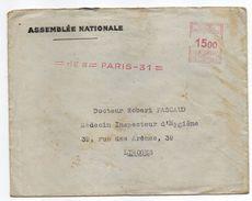 EMA--1949--PARIS 31- 6 IX  49  *1500  Machine N°C 1701-env Personnalisée ASSEMBLEE NATIONALE-R.Schmidt Député Hte Vienne - Marcophilie (Lettres)