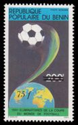 Soccer Football Benin 1985 #390 Ovpt 1982 World Cup Spain MNH  ** - World Cup