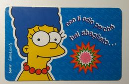 Marge Simpsons Italy 1999 Plastic Card - Trading Cards